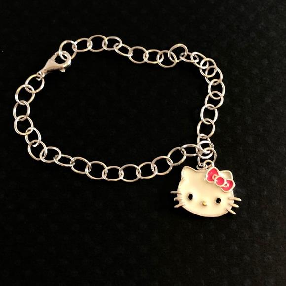 b8dd76b49 Hello Kitty Jewelry | Fine Pink Bow Bracelet | Poshmark
